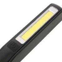 Nowy 2 W 1 USB Akumulator Camping LED COB Światła Kontroli Magnetyczne Światła Lampy Latarka Camping Piesze Wycieczki Outerdoor Narzędzia