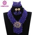 Fantástico Azul Perlas de Boda Africanos Joyería Set Joyería Nupcial Conjunto Indio WD575 Nigeriano Joyería de La Novia Fijó El Envío Libre