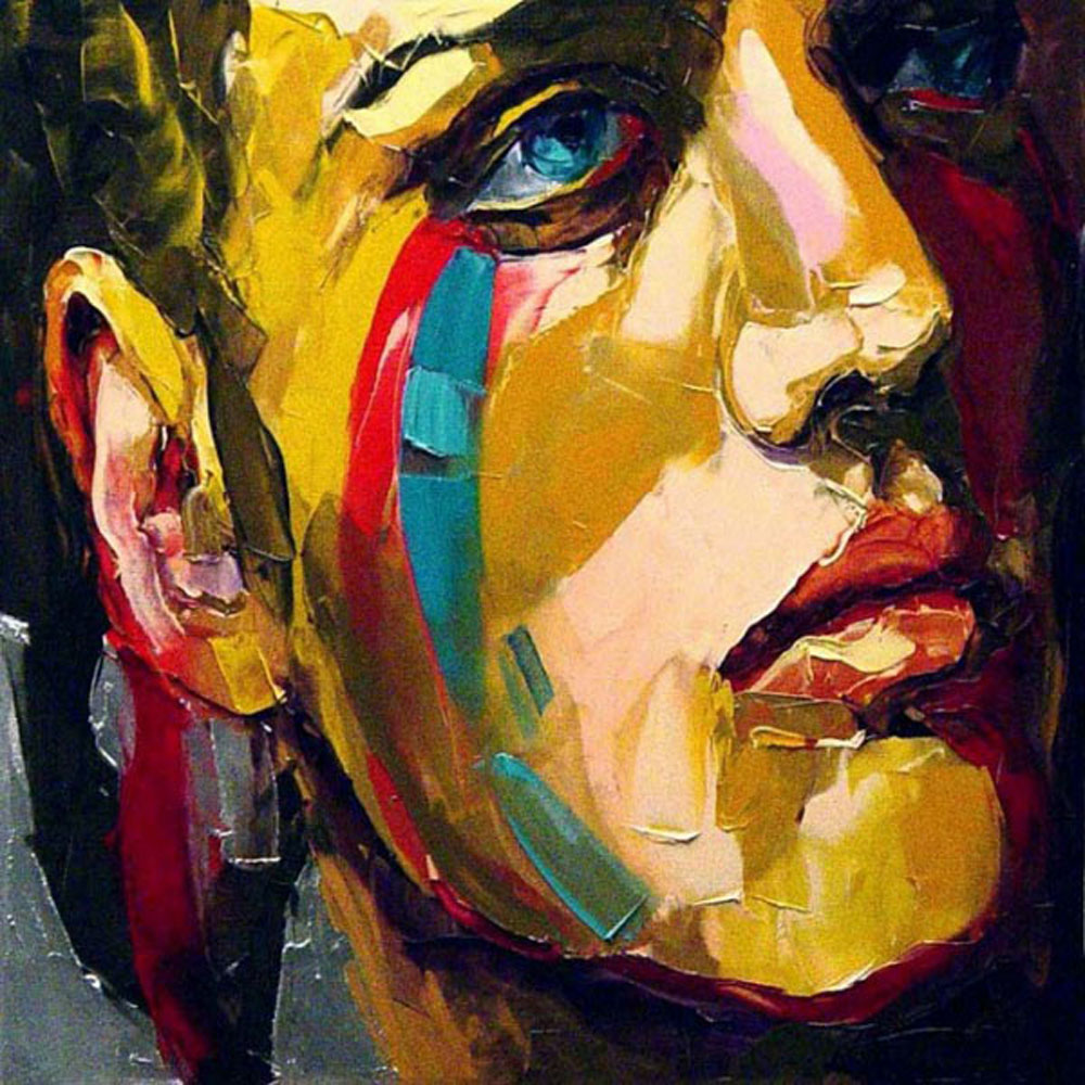 China Artist 100%Handmade High Quality Abstract Portrait ...
