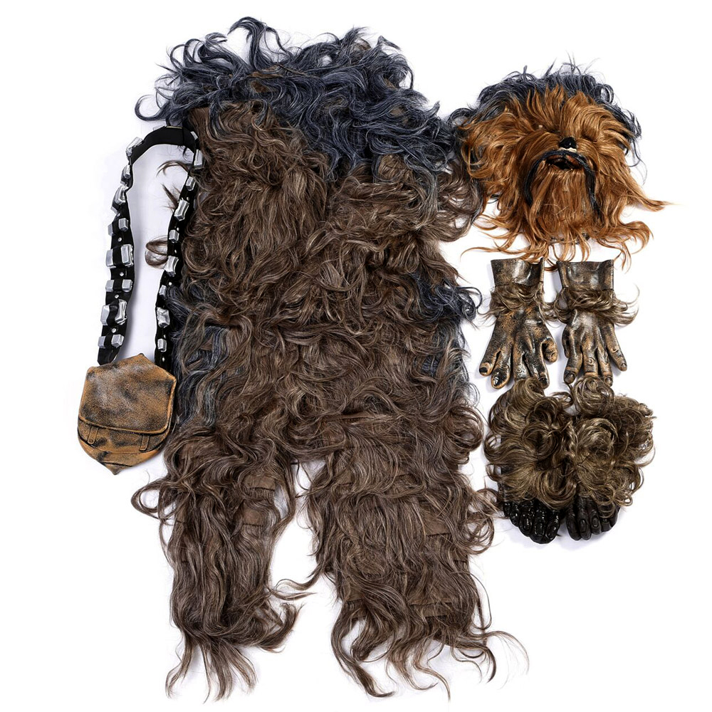 Star Wars Chewbacca Cosplay Costume Halloween Party Suit Costumes jumpsuit helmet gloves bag Shoe cover4