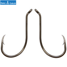 Easy Catch 100pcs 8299 High Carbon Steel Black Offset Octopus Beak Bait Fishhooks Size 1 2 6 8 2/0 3/0 4/0 5/0 6/0 7/0 8/0 9/0