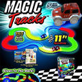 US hOT Magic Tracks Amazing Racetrack Car Rail that Can Bend Flex Glow Xmas Gift Kids Toys