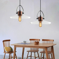 Glass Pendant Light Kitchen Island Lighting Bar Lights Bedroom Study Modern Ceiling Lamp Home Indoor Lights Bulb For Free