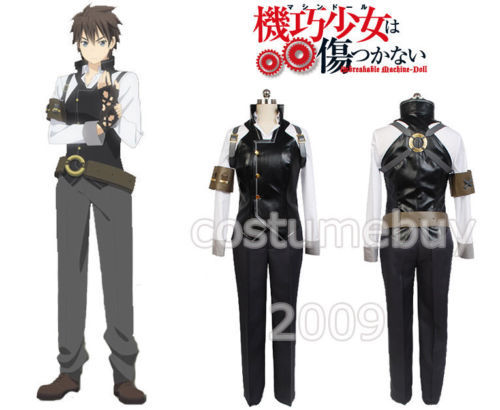 Anime Unbreakable Machine - Doll Raishin Akabane Cosplay Costume Halloween Carnival