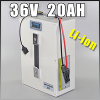 36v lithium ion battery Multi function 36V 20AH Portable battery waterproof plug