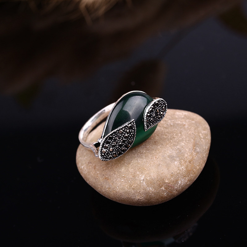 HTB1t242OVXXXXbaaFXXq6xXFXXXU - Feelgood Jewellery Set Vintage Silver Color Fashion Water Drop Green Natural Stone Opal Jewelry Sets For Women Party Gift
