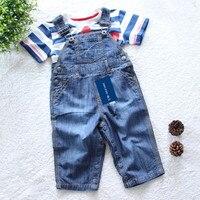 High Quality Brand Baby Rompers Infant Boys Girls Jumpsuit Roupas De Bebe Denim Overalls Jeans Kids