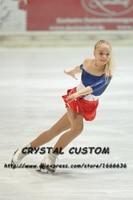 Лидер продаж Обувь для девочек соревнования по фигурному катанию Платья для женщин Кристаллы Изящные Новые Марка лед фигурное катание Плат