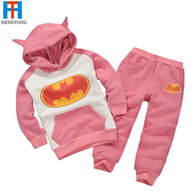 Children Clothing Sets New 2016 Spring Autumn Track Suit Girls Boys Casual Sets Plaid Hoodies Pants Twinset Kids Hooded