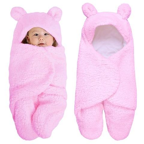 Winter Newborn Baby Swaddle Wrap Cotton Warm Soft Infant Blanket & Swaddling Cartoon Wrap Blanket Sleepsack Y13 Lahore