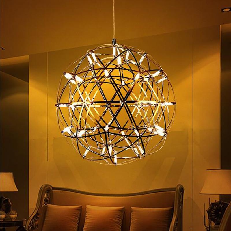 Us 45 62 Off Jmmxiuz Free Shipping D20 25 30 40cm Chrome Sparkle Lights Led Chandelier Globe Lamps Ceiling Firework In Pendant