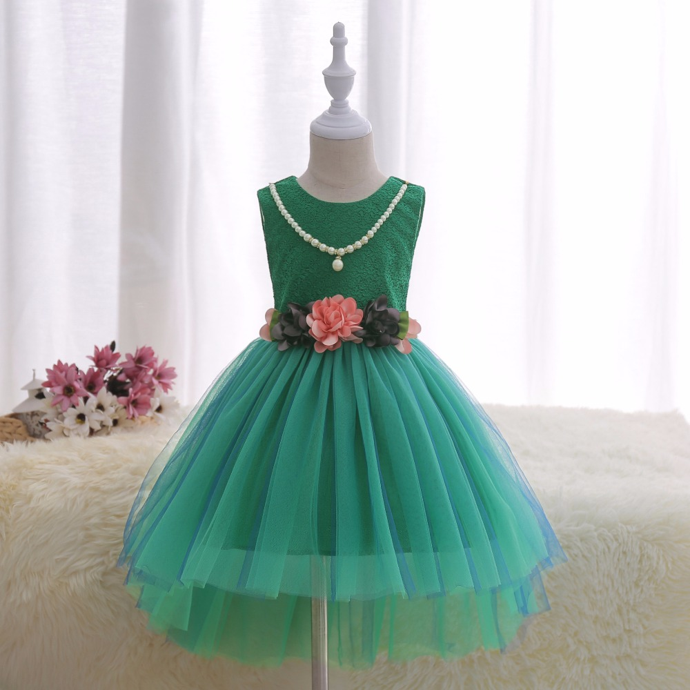 Girls Dress New Summer Flower Kids Party Dresses For Wedding ...