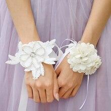 magideal elegant wrist corsage bridesmaid crystal