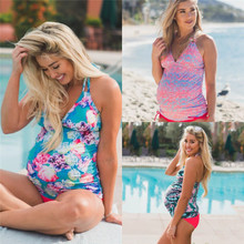 a8e9ae7248583 2018 New Summer Floral Split Bikini Swimsuit for Pregnant Women Europe and America  Women's Swimsuits Maternity Bathing Suits