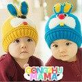 Бесплатная доставка Шляпа Dongkuan детей hat 3D кролика шерсть теплая шапка 7 цвета в течение 6 месяцев до 4 лет ребенок шляпы