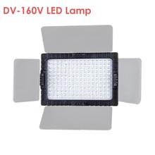 פלקון עיני DV 160V גבוהה CRI95 160 LED וידאו אור מנורת עבור Canon ניקון DV למצלמות DSLR מצלמות