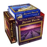 Adulte BRICOLAGE anti-stress jouet personnalisé puzzle 1000 comprimés Puzzle fidget jouets paysage papier Jigsaw puzzle jeu