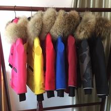 Children natural fur collar Jacket Clt340