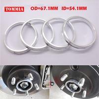 TOMMIA 1Sets Aluminium Centric Zapfen Hub Ringe Rad Spacer Set 54 1mm ID zu 67 1mm OD