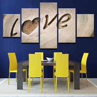 Oil Canvas Modern HD Printed Paintings Wall Art 5 Pieces Carving Love Quotes Posters Home Decor