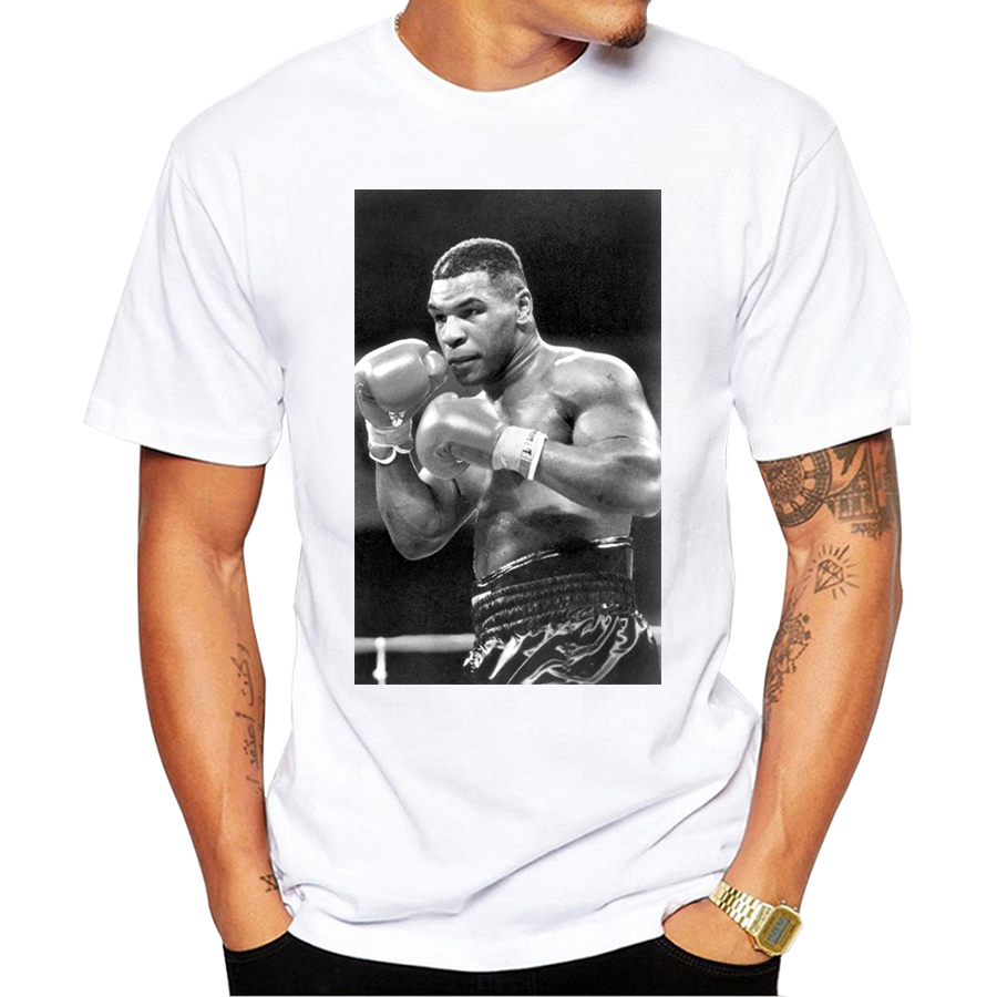 Fashion Mike Tyson Poster Printed Casual   T  -  Shirt   Short Sleeve Retro Popular Design   T     Shirt   Hipster Cool Tops Harajuku Streetwear