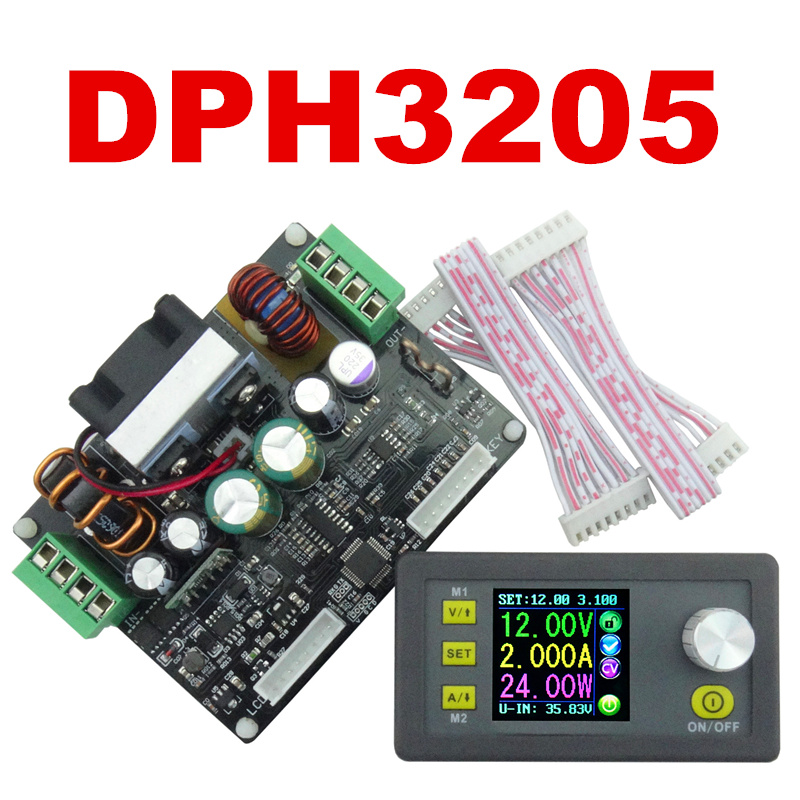 DPH3205 Power Supply color Digital LCD DC 32V 5A Control Buck-Boost Constant Voltage meter current voltmeter Ammeter 8% OFF