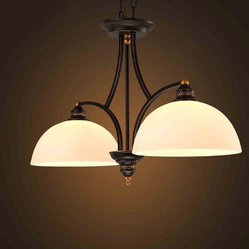 Retro Pendant Lamp European Vintage Bedroom Living Room Industrial Glass Lampshade Hanging Light Corridor Balcony Lamps PL552 tiffany glass pendant lamps fashion style 3 lights living room lamps corridor light bedroom lamp dia 56 cm h 65 cm