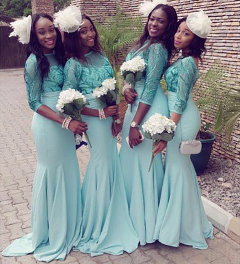 Online Get Cheap Turquoise Long Sleeve Bridesmaid Dresses ...