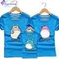New 2017 Matching Mother Son Clothes Shirts 9 Colors Totoro Mother Daughter Outfits Cartoon Cotton Familia Roupas Combinando