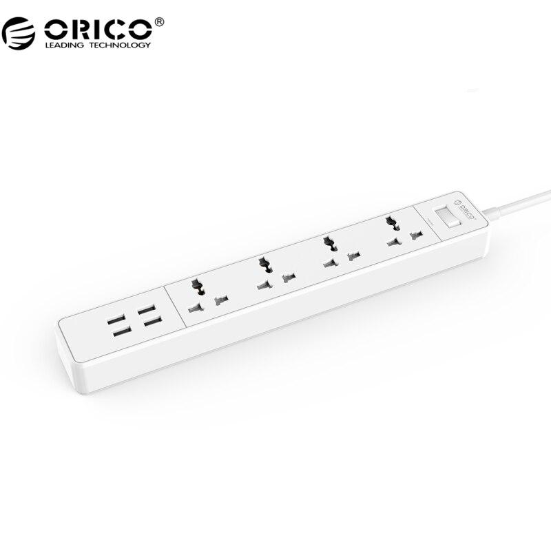 ORICO CVMO Accueil Bureau Universel Surtension Protecteur Avec 4 USB Chargeur 4 Universal AC Plug Multi-Sortie