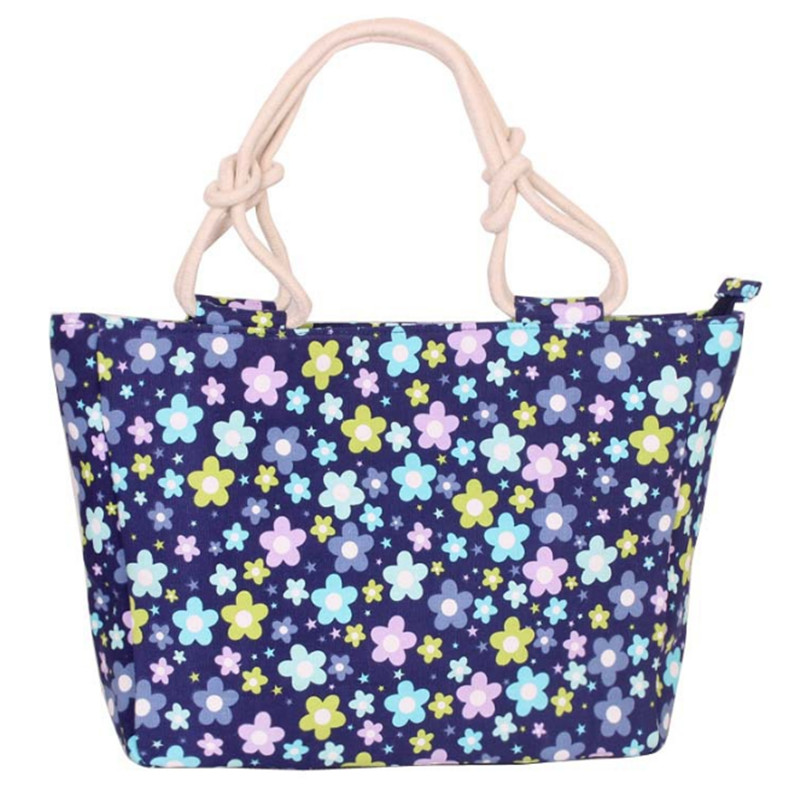 Fashion Folding Women Big Size Handbag Tote Ladies Casual Flower Printing Canvas Graffiti Shoulder Bag Beach Bolsa Feminina 13