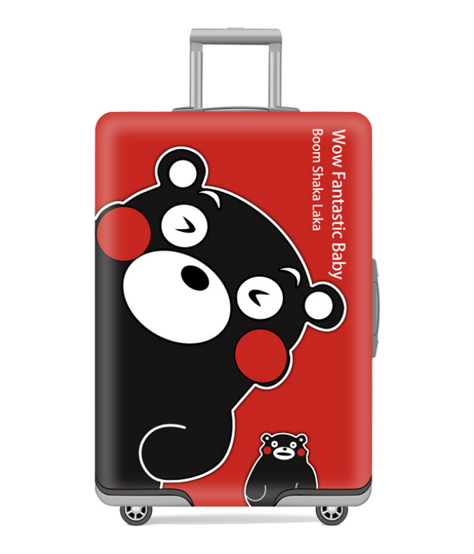 19-32 Inch Cartoon Kumamon Travel Suitcase Protective Cover Luggage Case Travel Accessories Elastic Luggage Dust Cover
