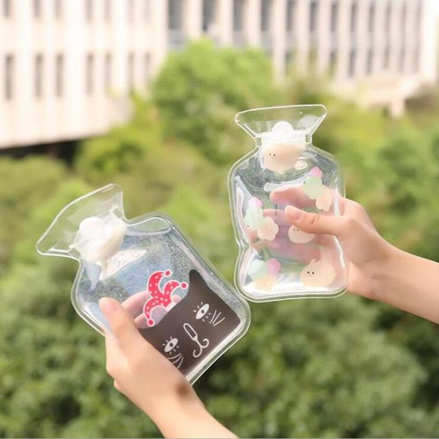 Chica niños transparente calentador del invierno bolsas Cartoon PVC ...