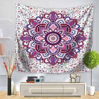 India Colorful Tapestry Mandala Bohemian Printing Wall Hanging Decorative Beach Carpet Boho Wall Cloth Tapestries