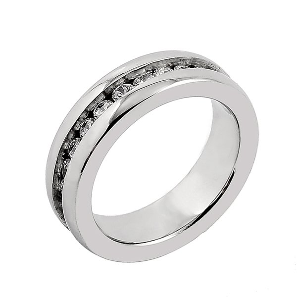 M-32 Classic Lover's Finger Ring High Quality Stainless Steel Round Charm Lover Couple Best Gift Ring Zircon Setting Shiny Ring
