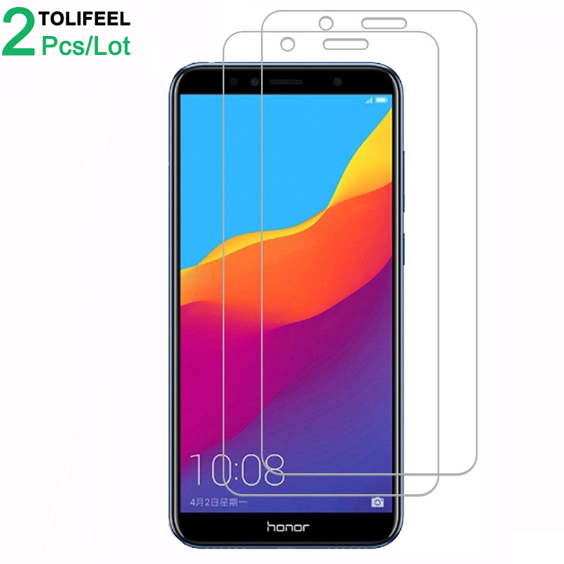 Tempered-Glass Huawei Honor Screen-Protector Phone-On for 7a-Pro 9H 2pcs