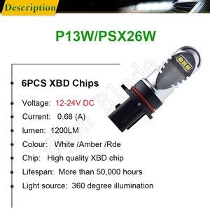 Image 3 - 2 pces canbus livre de erros 6000 k branco xbd 30 w carro led p13w psx26w lâmpadas para a luz de nevoeiro automóvel que conduz a fonte de luz 12 v 24 v dc