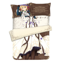Anime Violet Evergarden Otaku Bedding Linen Set Bed Sheet or Duvet Cover with Two Pillow cases