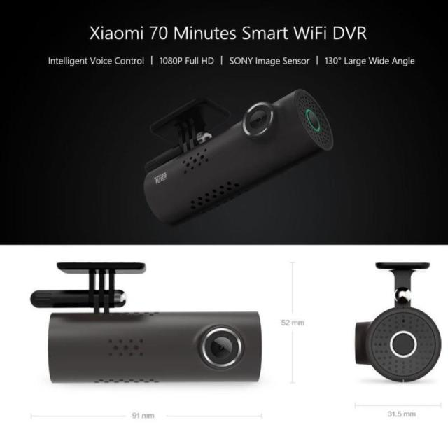 Smart Sensor Voice Control Xiaomi 70mai Car DVR Camera 1080P HD Night Vision Dash Cam Wifi SONY IMX323 Image Driving Recorder