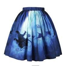 3D Printing Christmas Skirts Women Elastic Waist