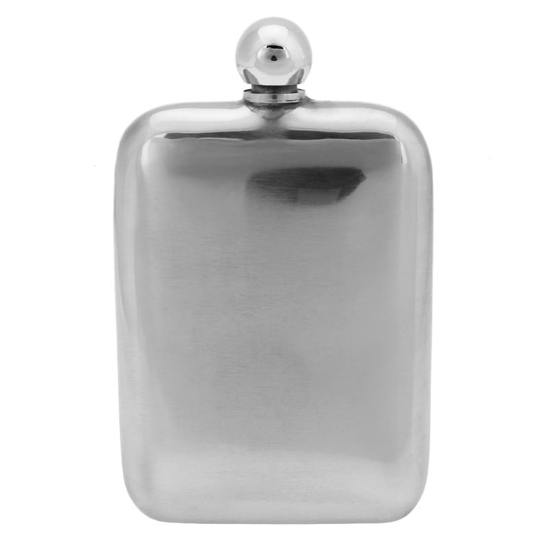 6oz Portable Mirror Face Stainless Steel Hip Flasks Whisky Liquor Wine Pocket Bottle Pots Drink Ware Lover Husband Birthday Gift