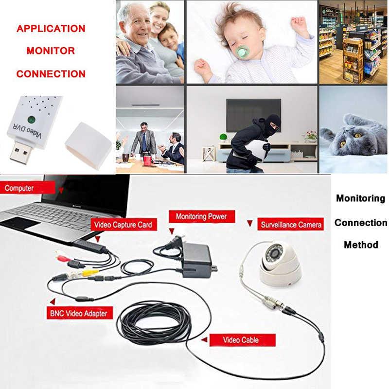 Kebidumei USB 2.0 Video Capture Adaptor untuk Mudah untuk Cap Menangkap Audio Kartu VHS untuk DVD Video Capture Kabel USB untuk Win8/XP/VISTA