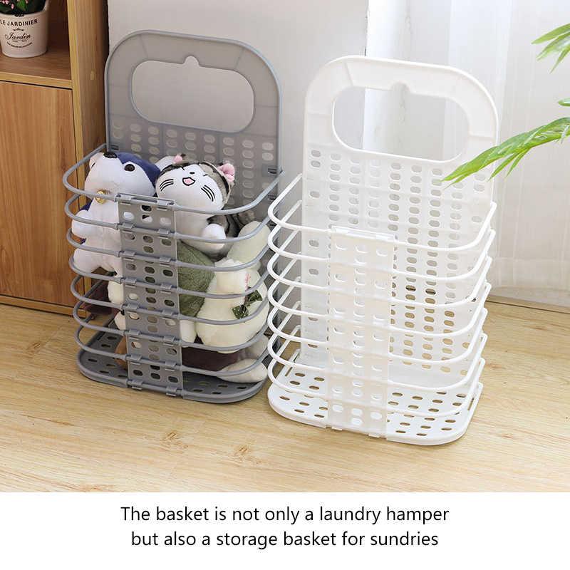 Baffect Plástico Cesto de roupa suja cesto de Roupa Dobrável Cesto de Roupa Suja Cesta De Armazenamento de Multi-funcional para o Banheiro Cozinha Quarto