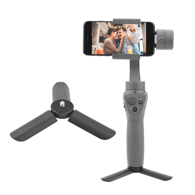 Mini Desktop Tripod for DJI OSMO Mobile 2 Stabilizer Camera FeiYu Mijia Zhiyun Smooth 4 Stand Supporter Table Mount 1/4 inch