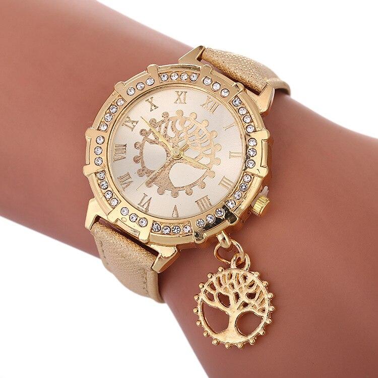 Luxury Women Watches Fashion Elegant Diamond Life Tree Ladies Watch Casual Quartz Watch 2019 New Female Clock Relogio Feminino