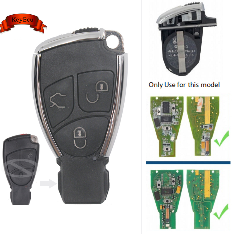 KEYECU Modified New Smart Remote Key Shell Case Fob 3B for Mercedes-Benz CLS C E S