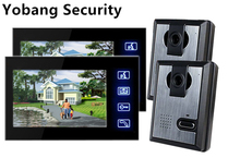 Yobang Security Freeship 7″ TFT Color LCD Video Door Phone Doorbell Rainproof Picture/Video Record IR Night Vision Touch Key