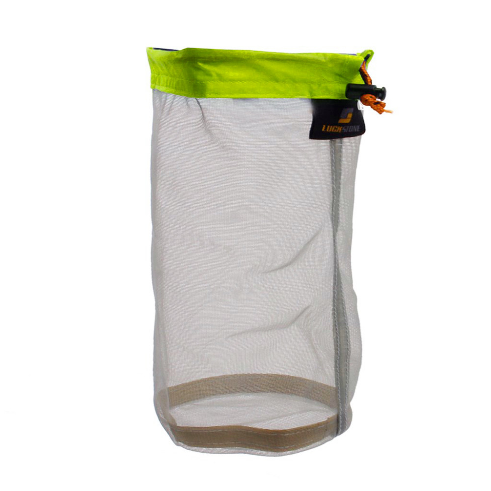 LUCKSTONE Ultra Light Mesh Stuff Sack Storage Bag for Tavel Camping ...