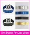 Ligação multicolor pulseira band para apple watch 42mm 38mm cinta de aço inoxidável têm a mesma superfície como pulseiras de relógio original
