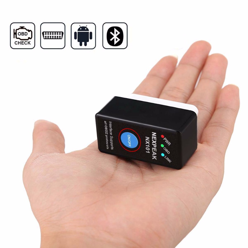 Nexpeak NX101 Elm327 Bluetooth V1.5 Engine code reader Mini OBD2 Scanner  Car Diagnostic Tool OBD 2 Auto Scanner